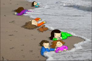 Ilustración: Mahnaz Yardani. Fuente: lanacion.com